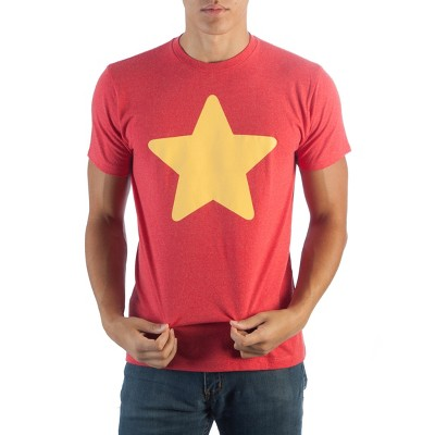 Steven Universe Star Men's Red Graphic Crew Tee