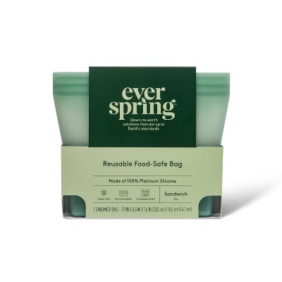 Reusable Silicone Food Storage Bag - Sandwich - Everspring™