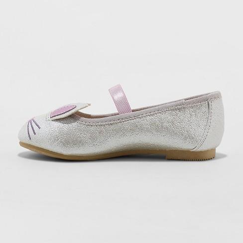 8f991bdbaf95 Toddler Girls  Revah Glitter Ballet Flats - Cat   Jack™ Silver   Target