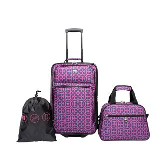 Skyline 3pc Luggage Set - Magenta Geo