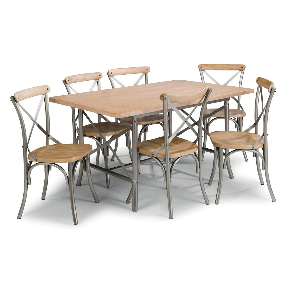 French Quarter 7pc Dining Group Aged White Washed - Home Styles