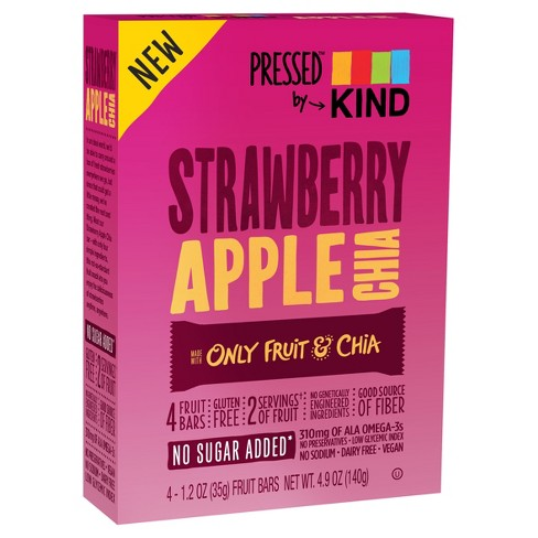 Pressed™ by KIND Strawberry Apple Chia Bars - 4ct - image 1 of 3