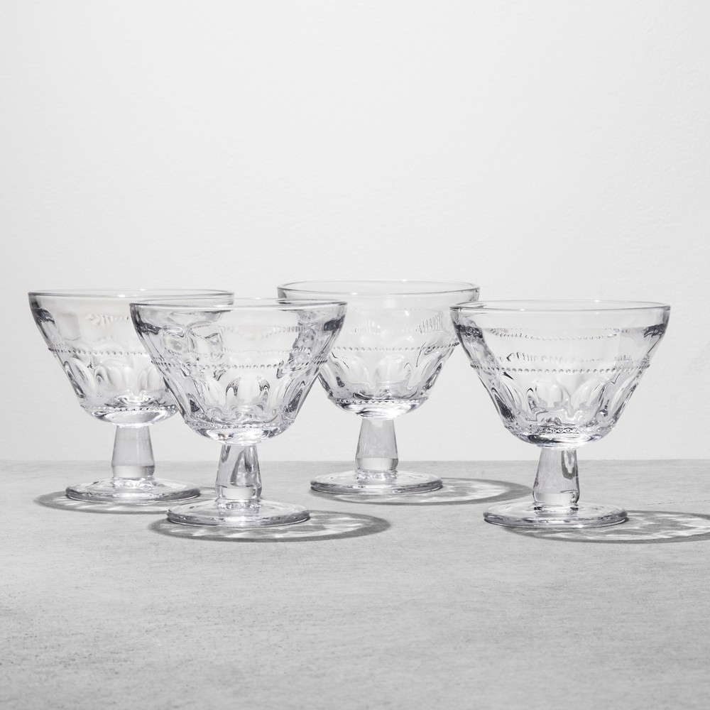 Image of 4pk Dessert Bowl Glass - Clear - Hearth & Hand with Magnolia