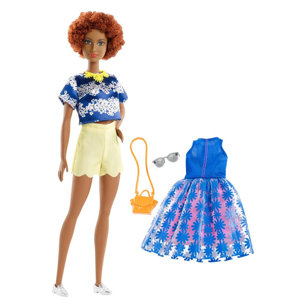 Barbie Fashionista Daisy Love Doll Every Barbie Fashionistas doll has her own look and style -- from casually cool to super sporty, all fashions are inspired by the latest trends. And an extra outfit included with Barbie doll means twice the possibilities for storytelling and styling fun. With added diversity and more variety in styles, fashions, shoes and accessories, there are infinitely more ways to spark imaginations and play out stories -- because you can be anything with Barbie! Includes Barbie Fashionistas doll wearing fashion and shoes, one additional outfit (a dress and/or top and bottom), one purse and two accessories. Each sold separately, subject to availability. Dolls cannot stand alone. Clothing is designed to mix and match with dolls of the same body type; select pieces can be shared across the line. Flat shoes fit dolls with articulated ankles or flat feet. Colors and decorations may vary. Gender: Female.