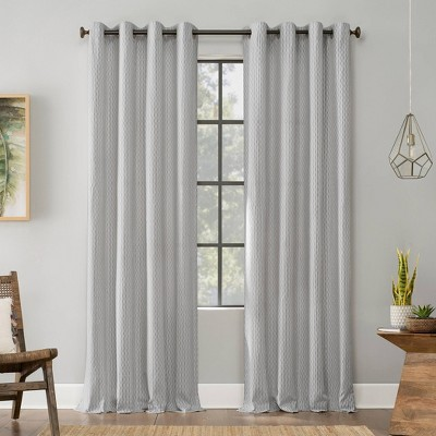 Geometric Deco Cotton Grommet Top Curtain - Archaeo