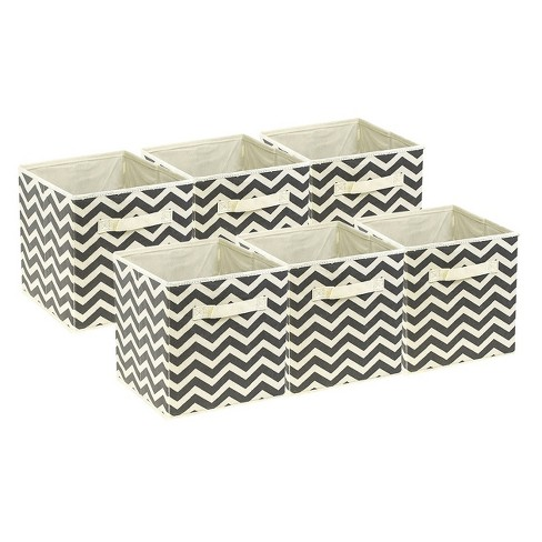 6pc Sorbus Cube Storage Box - Beige - image 1 of 7