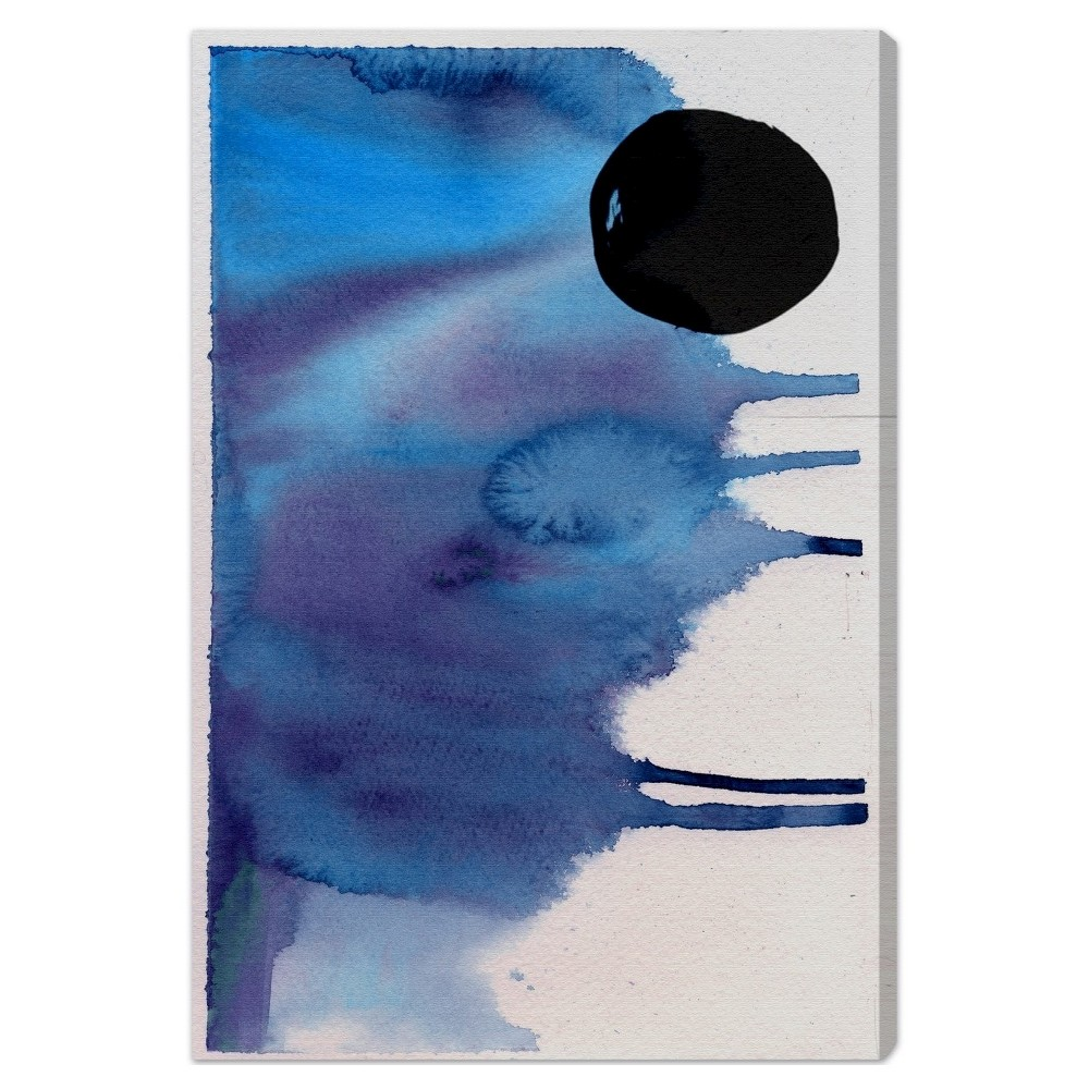"""Image of """"Oliver Gal Unframed Wall """"""""Hiver"""""""" Canvas Art (24x16), Blue"""""""