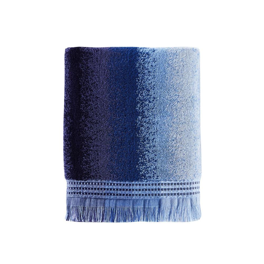 Stripe Jacquard Bath Towel Blue - Saturday Knight Ltd.