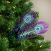 "Northlight 26"" Purple and Blue Peacock Feather with Faux Jewel Christmas Pick - image 2 of 3"
