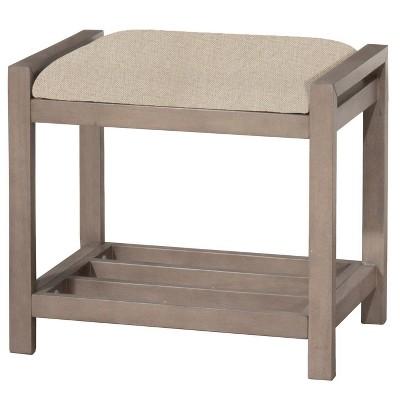 Amelia Vanity Stool Gray - Hillsdale Furniture