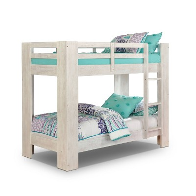 Twin Over Twin Findlay Built in Ladder Bunk Bed Wire - ioHOMES