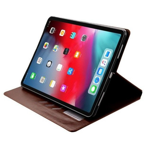 "MYBAT For Apple iPad Pro 11"" (2018) Brown MyJacket Leather Fabric Case Cover w/stand - image 1 of 3"