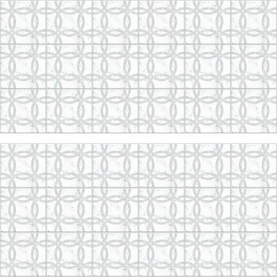 Interlocking Circle Tile Backsplash Giant Wall Decal - RoomMates