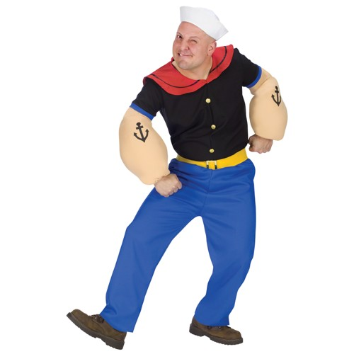 Halloween Men's Popeye Costume - One Size, Blue/Purple