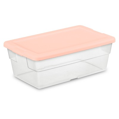 6qt Shoe Box 5pk Feather with Peach Lids - Room Essentials™