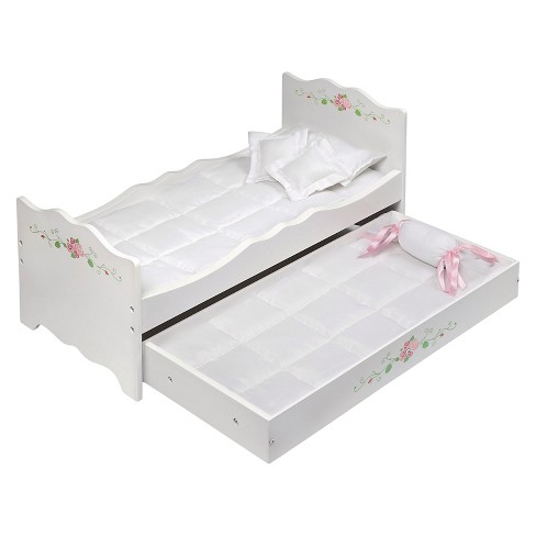 Badger Basket White Rose Doll Bed with Trundle - image 1 of 4