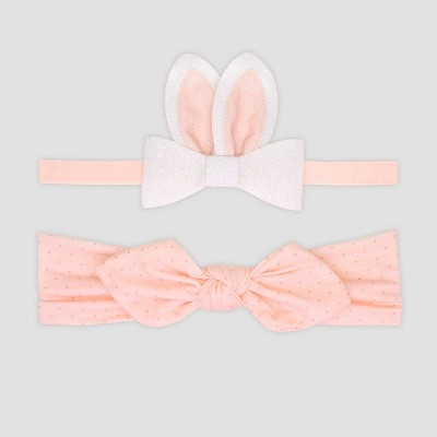 Baby Girls' Easter Bunny Bow Hair Clip - Just One You® made by carter's Pink