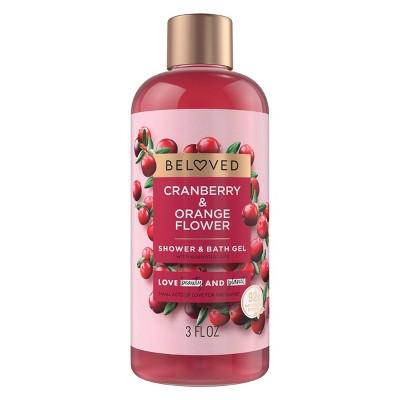 Beloved Cranberry & Orange Flower Mini Shower Gels - 3 fl oz