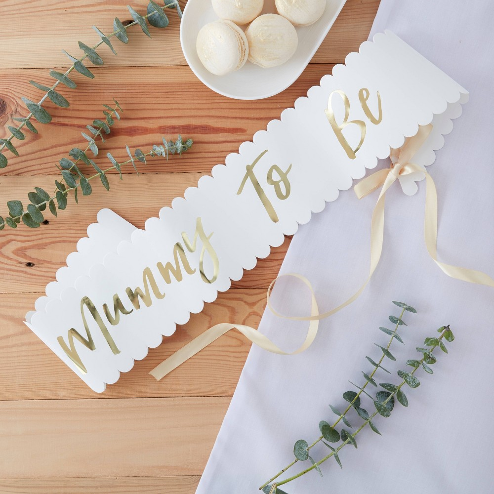 """Image of """"""""""""Mummy To Be"""""""" Baby Shower Party Sash"""""""