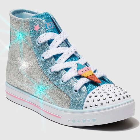 Toddler Girls' S Sport By Skechers Zelena Crystal Stars Light up Sneakers - Silver - image 1 of 5