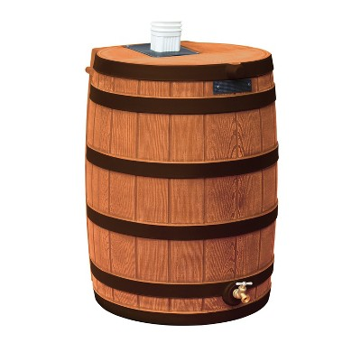 Good Ideas Rain Wizard Water Storage Rain Collection Rain Barrel 40-Gallon Darkened Ribs, Terra Cotta