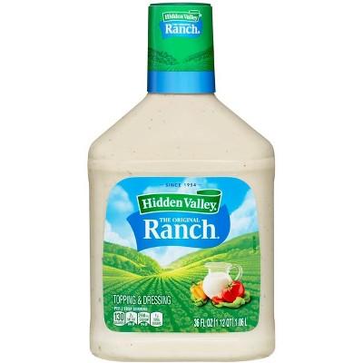 Hidden Valley Original Ranch Salad Dressing & Topping - Gluten Free - 36oz Bottle