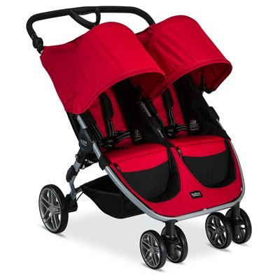 Britax® 2017 B-Agile Double Stroller-Red