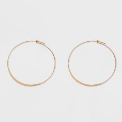 Large Thin Hoop Earrings - A New Day™ Gold