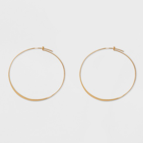 Large Thin Hoop Earrings - A New Day™ Gold - image 1 of 1