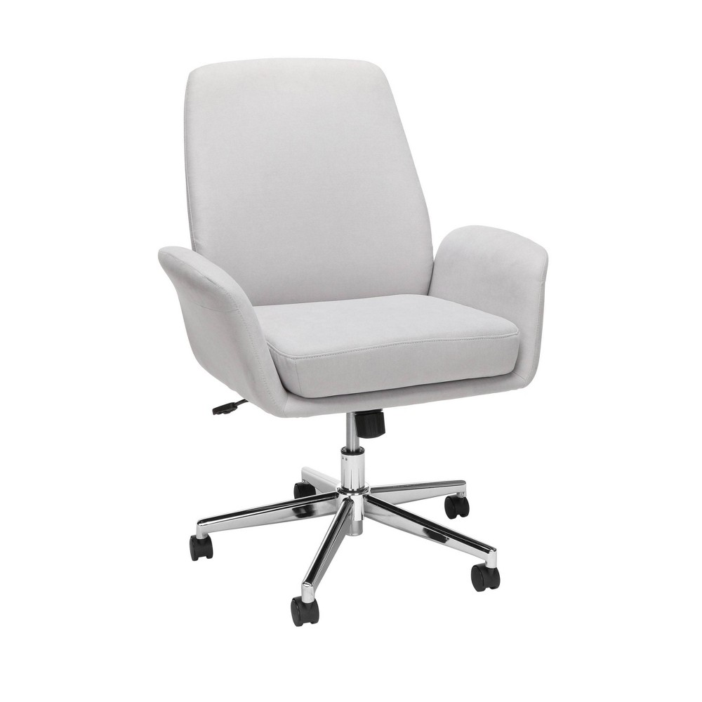Modern Fabric Upholstered Office Chair Gray Ofm
