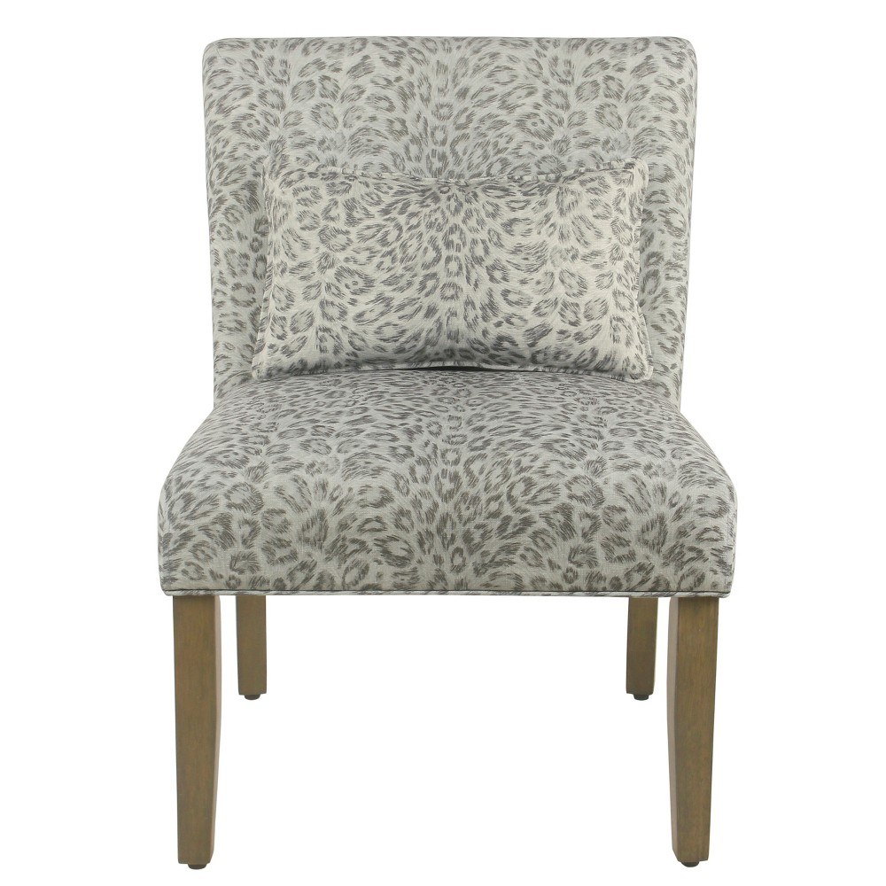 Homepop Parker Accent Chair with Pillow Gray Cheetah was $149.99 now $112.49 (25.0% off)