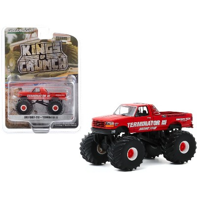 """1993 Ford F-250 Monster Truck """"Terminator III"""" Red """"Kings of Crunch"""" Series 7 1/64 Diecast Model Car by Greenlight"""