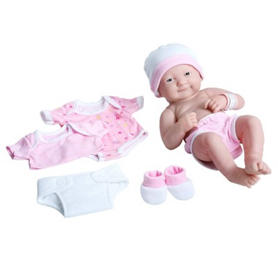 "JC Toys La Newborn 14"" Baby Doll 8pc - Pink"