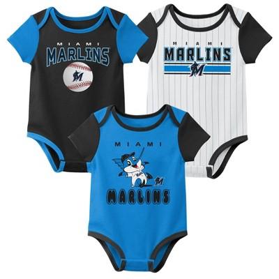 MLB Miami Marlins Baby Boys' 3pk Bodysuit Set