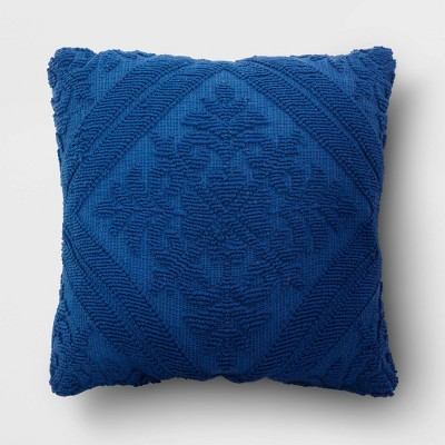 Tufted Throw Pillow Navy - Threshold™