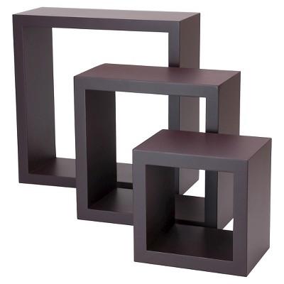 Set of 3 Cubbi Shelves - Espresso
