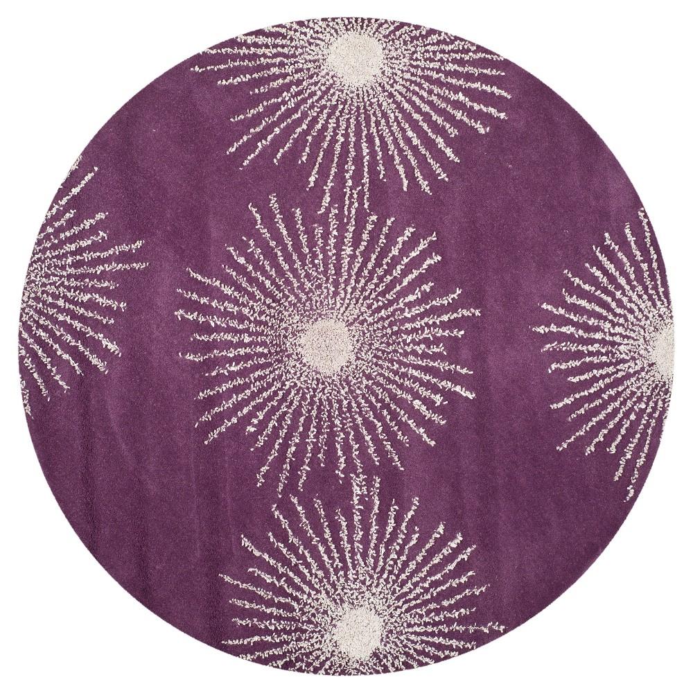 Amsterdam Area Rug - Purple / Ivory (6' Round) - Safavieh