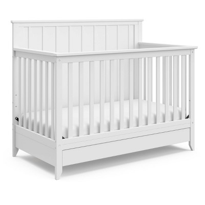 Storkcraft Forrest 4-in-1 Crib with Drawer - White