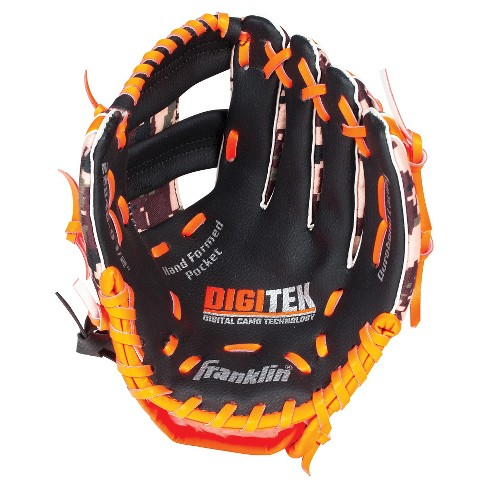 "Franklin Sports 10"" RTP Teeball Performance Glove Black/Orange-Right Handed Thrower - image 1 of 2"