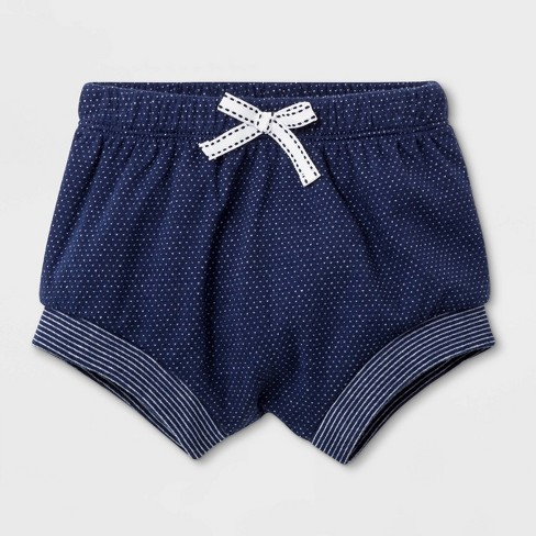 c17120caaf83 Baby Girls  Eyelet Ruffle Top And Cuff Shorts - Cat   Jack™ White Navy Blue    Target
