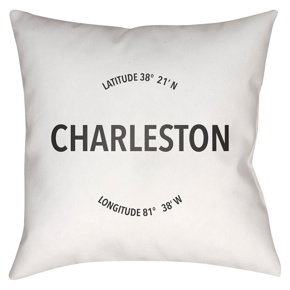 White City Compass Charleston Throw Pillow 18