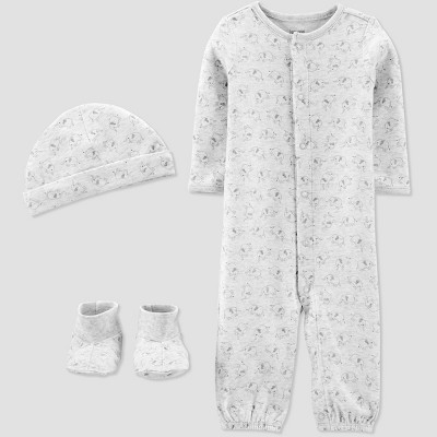 Baby Convertible Nightgown with Cap and Booties - Just One You® made by carter's Gray 3M