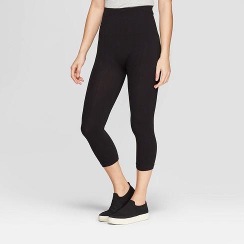 78c282bf3e98de Women's High Waist Cotton Capri Leggings - A New Day™ Black : Target