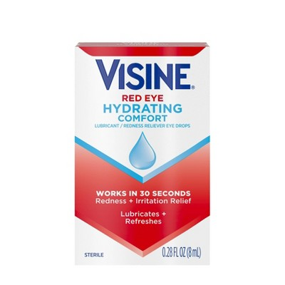 Visine Advanced Redness + Irritation Relief Lubrication / Redness Eye Drops - .28 fl oz