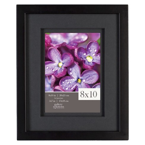 "8"" x 10"" Frame Black - Gallery Solutions - image 1 of 4"
