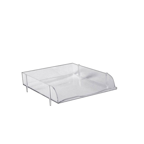 Azar Displays 4pk Stackable Clear Letter Trays - image 1 of 2