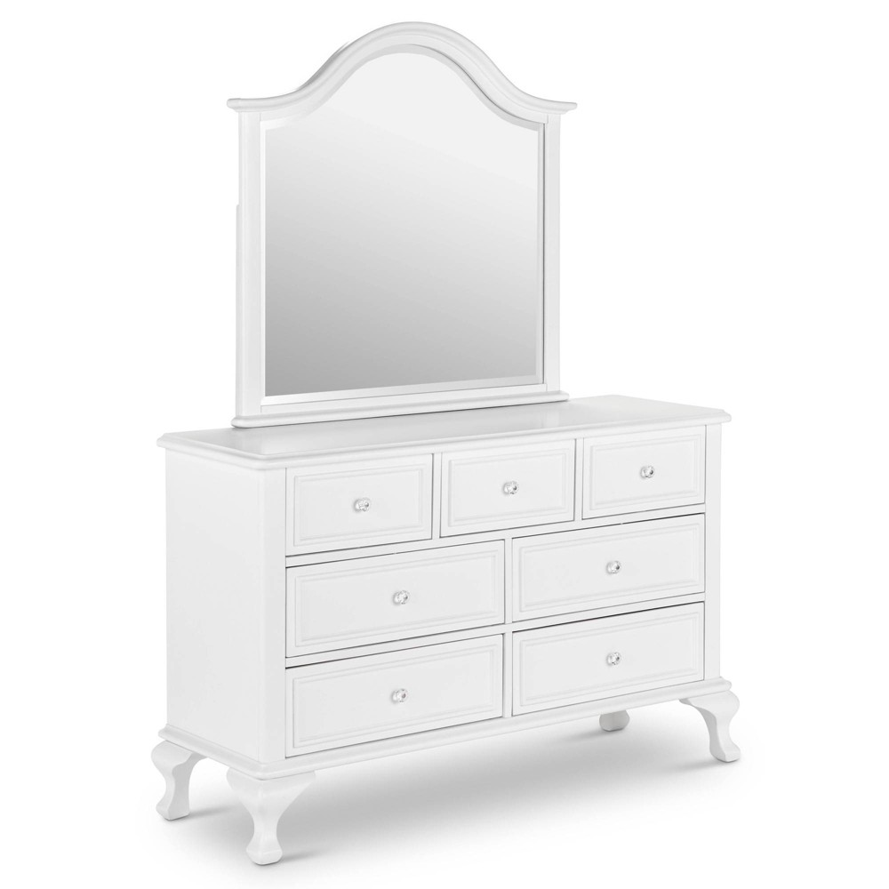 Jenna Dresser and Mirror Set White - Picket House Furnishings