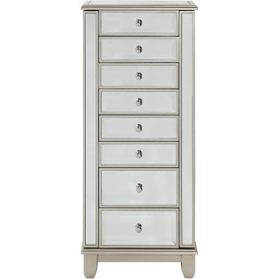 Monroe 2 Door 7 Drawer Jewelry Chest Champagne - Treasure Trove Accents