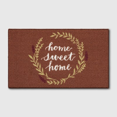 1'8 X2'10 /20 X34  Home Sweet Home Accent Rug Neutral - Threshold™