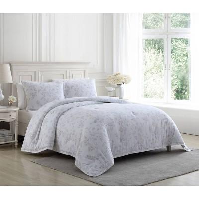 Fawna Brown Flannel  Comforter Set Brown - Laura Ashley